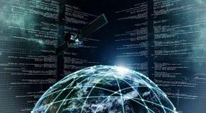 Tecnología de la información de Internet stock de ilustración