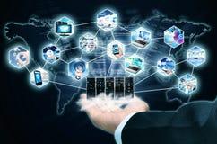 Tecnología de la información de Internet imagen de archivo libre de regalías