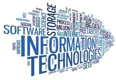 Tecnología de la información en nube de la etiqueta ilustración del vector