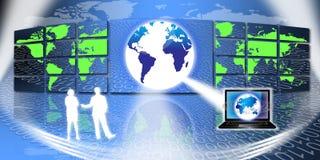 Tecnología de la información global stock de ilustración