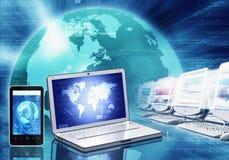 Tecnología de la información y adminículo stock de ilustración
