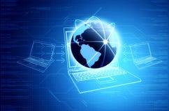 Tecnología de la información y concepto del establecimiento de una red stock de ilustración