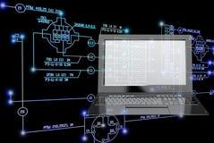 tecnología de la ingeniería de la E-conexión Imagenes de archivo
