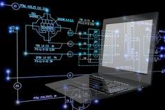 tecnología de la ingeniería de la E-conexión Imagen de archivo libre de regalías