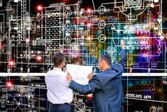 tecnología de la ingeniería de la E-conexión Ingeniero de trabajo Foto de archivo