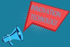 Tecnología de la innovación del texto de la escritura de la palabra Concepto del negocio para la nueva idea o método de naturalez ilustración del vector