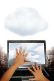 Tecnología de la nube imágenes de archivo libres de regalías