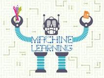 Tecnología de los datos y concepto del aprendizaje de máquina stock de ilustración