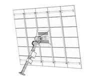 Tecnología de los paneles solares Imagen de archivo libre de regalías