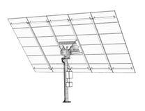 Tecnología de los paneles solares Foto de archivo libre de regalías