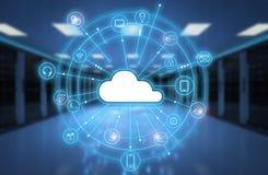 Tecnología de ordenadores de la nube stock de ilustración