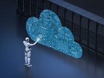Tecnología de ordenadores de la nube libre illustration