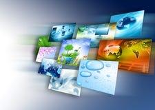 Tecnología de producción de la televisión y del Internet concentrada Imagen de archivo