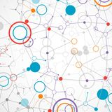 Tecnología de red/fondo de la comunicación de la ciencia ilustración del vector