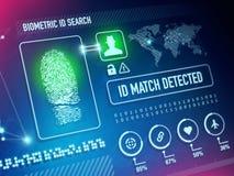 Tecnología de seguridad de la biométrica ilustración del vector