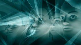 Tecnología del Ai, cerebros cibernéticos Foto de archivo