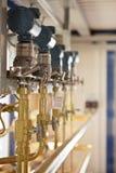 Tecnología del campo petrolífero Imagen de archivo libre de regalías