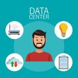 Tecnología del centro de datos libre illustration