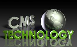 Tecnología del CMS ilustración del vector
