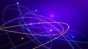 Tecnología del extracto de la fibra óptica de la conexión de datos ilustración del vector
