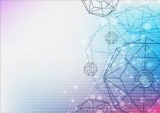 Tecnología del fondo del extracto de la ciencia del hexágono bio Imagen de archivo libre de regalías