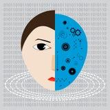 Tecnología del futuro, fusión del ser humano libre illustration
