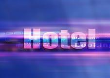 Tecnología del gráfico del hotel Imagen de archivo libre de regalías