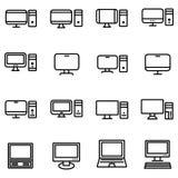 Tecnología e icono de los ordenadores stock de ilustración