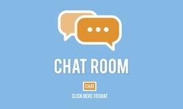 Tecnología en línea C de la conexión de la comunicación de la mensajería de la sala de chat Imagen de archivo libre de regalías