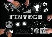 Tecnología financiera de Internet de la inversión de FINTECH Imagenes de archivo