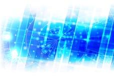 Tecnología futura abstracta con el fondo azul, diseño del vector stock de ilustración