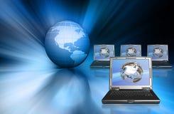 Tecnología global stock de ilustración