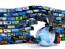 Tecnología global de los media libre illustration