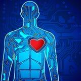 Tecnología humana del corazón libre illustration