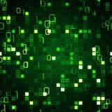 Tecnología inconsútil verde de la información de fondo Imagen de archivo libre de regalías