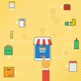 Tecnología Infographic de la tableta Fotos de archivo libres de regalías