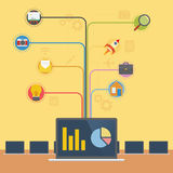 Tecnología Infographic del ordenador portátil libre illustration