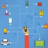 Tecnología Infographic del teléfono móvil Foto de archivo libre de regalías