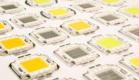 Tecnología llevada, luces llevadas, conductores, tecnologías de las TIC Foto de archivo