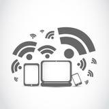 Tecnología portátil del wifi Imagen de archivo libre de regalías