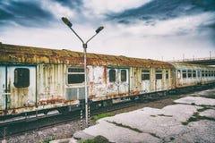 Tecnología retra del vintage, tren viejo, fondo del grunge foto de archivo libre de regalías