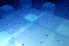 Tecnología transparente de la fibra Foto de archivo