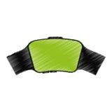 Tecnología usable del reloj elegante verde de la pantalla Fotos de archivo libres de regalías