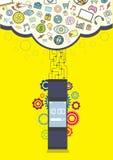Tecnología usable del smartwatch del vector Fotos de archivo