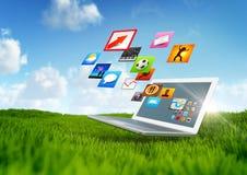 Tecnología verde stock de ilustración