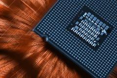 Tecnología y circuitboard de la oblea de los ordenadores imagen de archivo libre de regalías