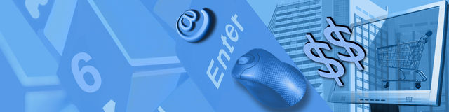 Tecnología y comercio electrónico Foto de archivo libre de regalías