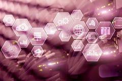 Tecnología y comunicación de la nube de la infraestructura de la tecnología imagen de archivo