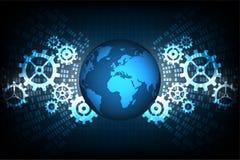 Tecnología y los mecánicos del mundo Foto de archivo libre de regalías