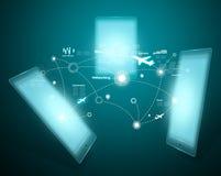 Tecnología y red social Imágenes de archivo libres de regalías